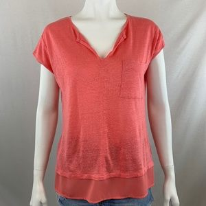 Sanctuary Coral Linen Top Size XS